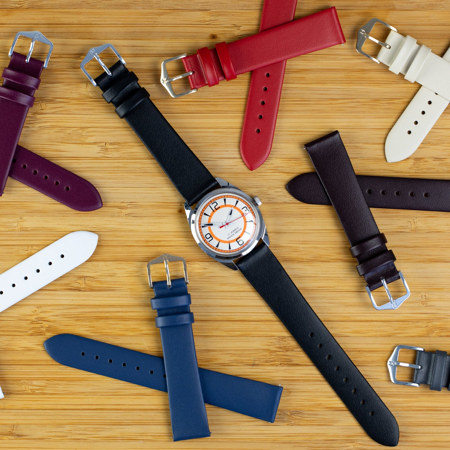 Clean and simple watch strap - The Hirsch Toronto