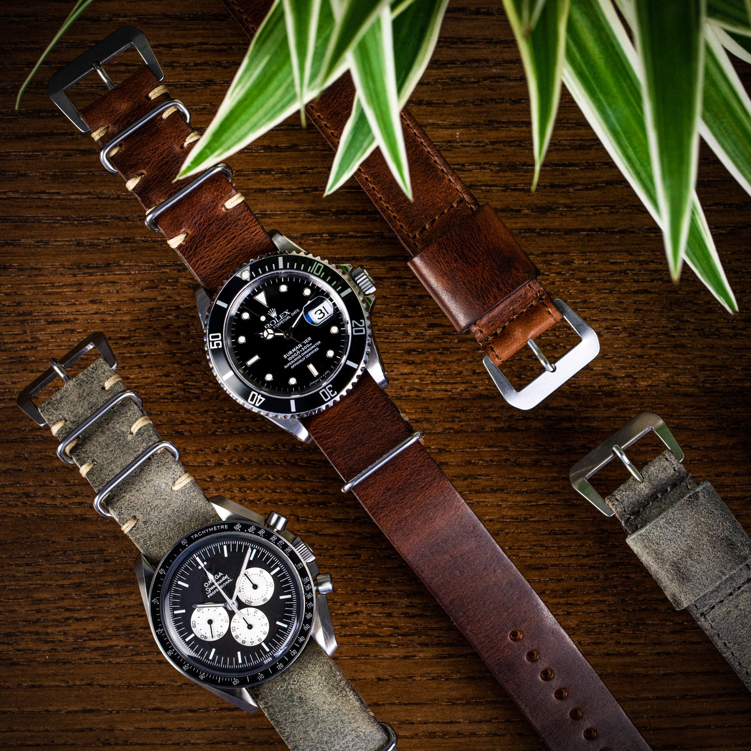 Leather Nato straps by Jean Paul Menicucci