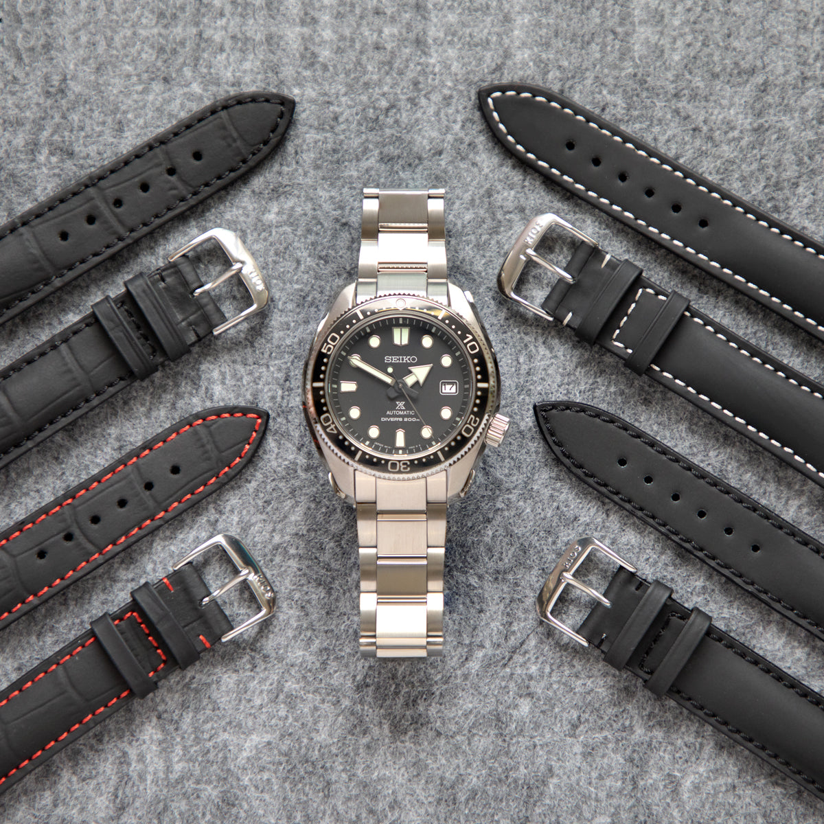 Four water resistant watch straps by Rios1931