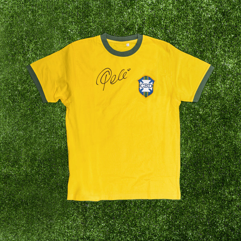 Competition: WIN a Hand Signed by Pele Brazil Football Shirt