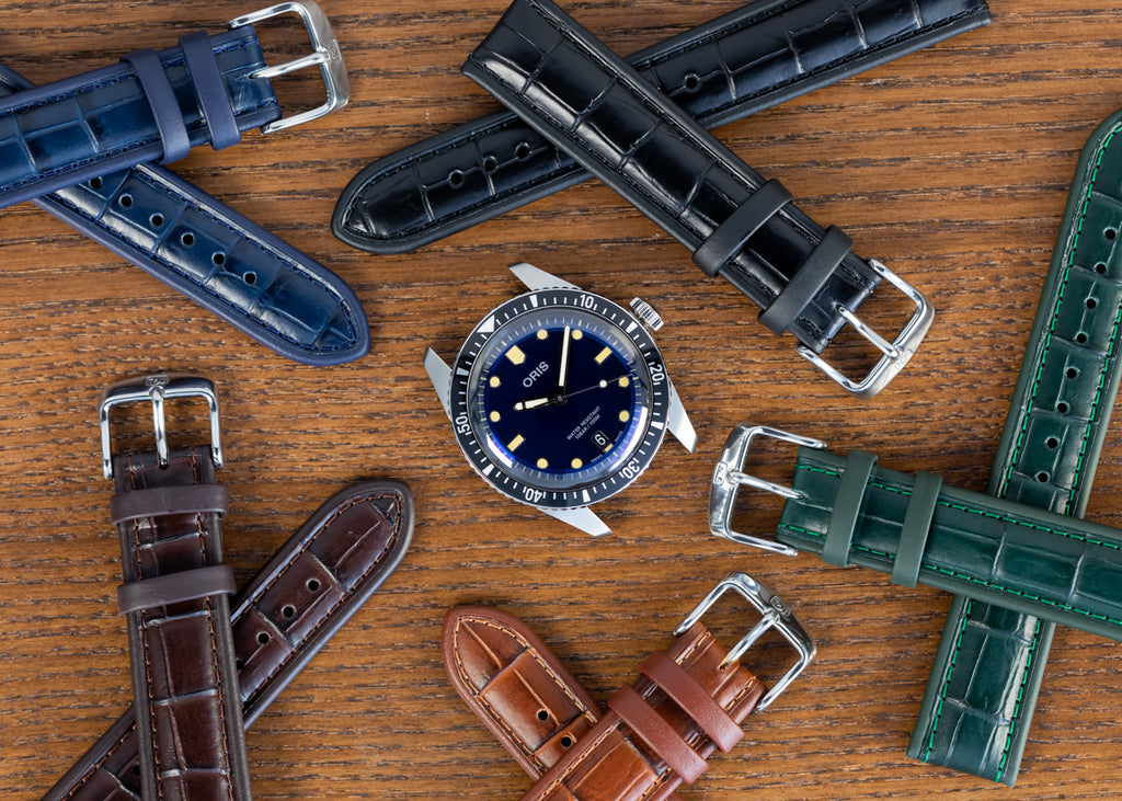 Oris Sixty-Five Diver and Di-Modell Imperator watch straps in mixture of colours