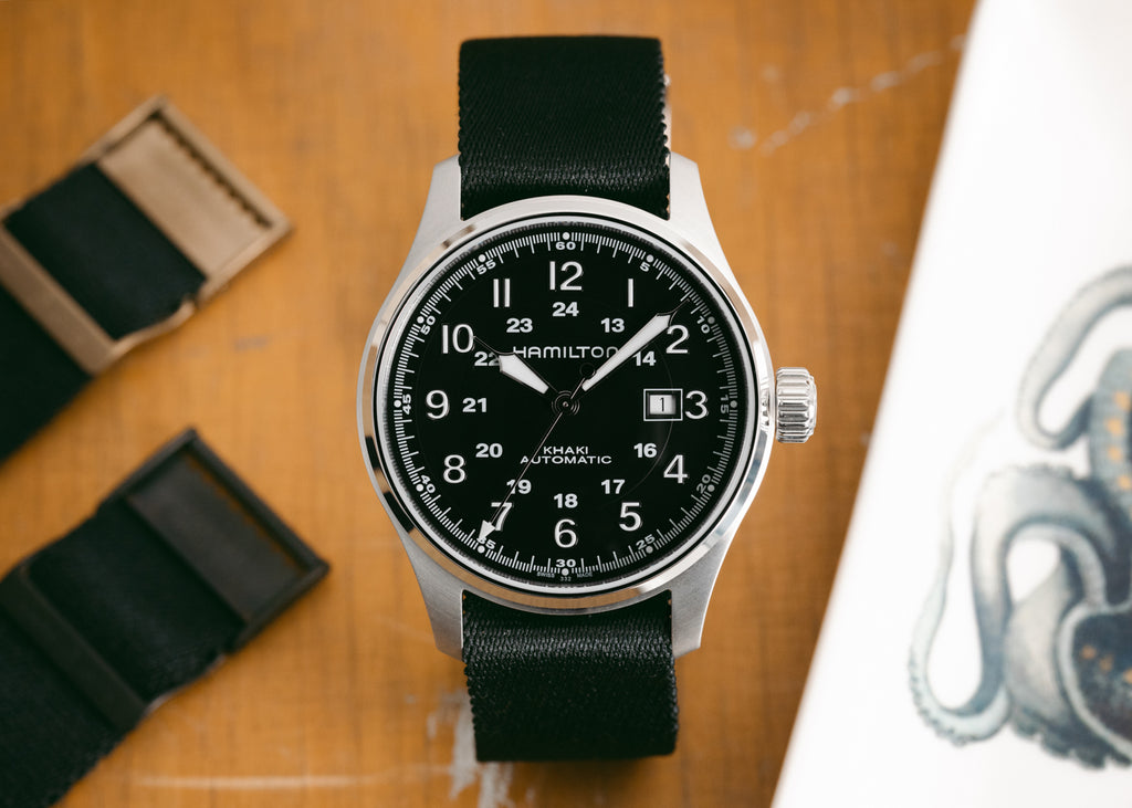 Elliot Brown Nato Watch Strap in Black