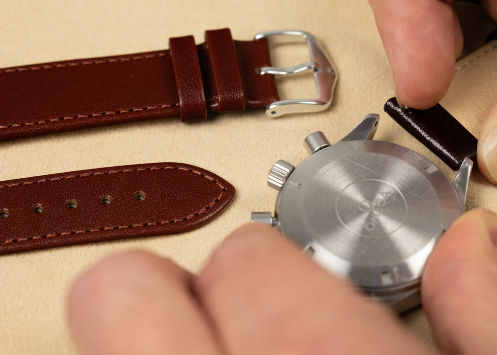 How to fit a quick-release Hirsch watch strap