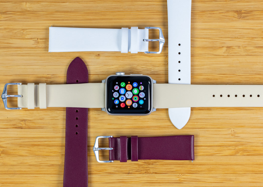 Apple watch and Hirsch Toronto watch straps