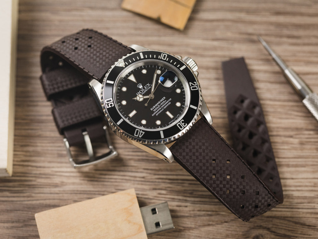 natural rubber watch strap