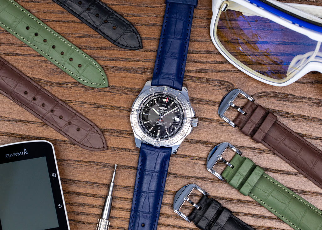 Rubber Alligator effect watch straps by ISOSWISS
