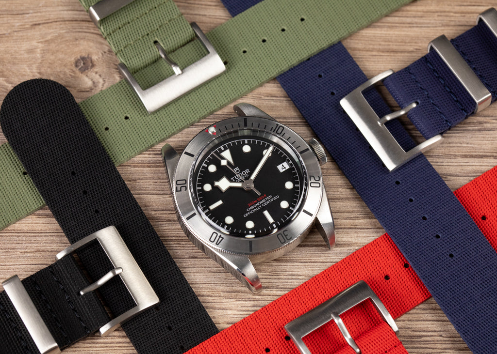 ISOSWISS Rubber Nato Watch Straps with Tudor Black Bay