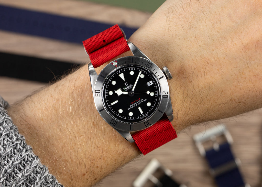 Tudor Black Bay and ISOSWISS Nato on the wrist