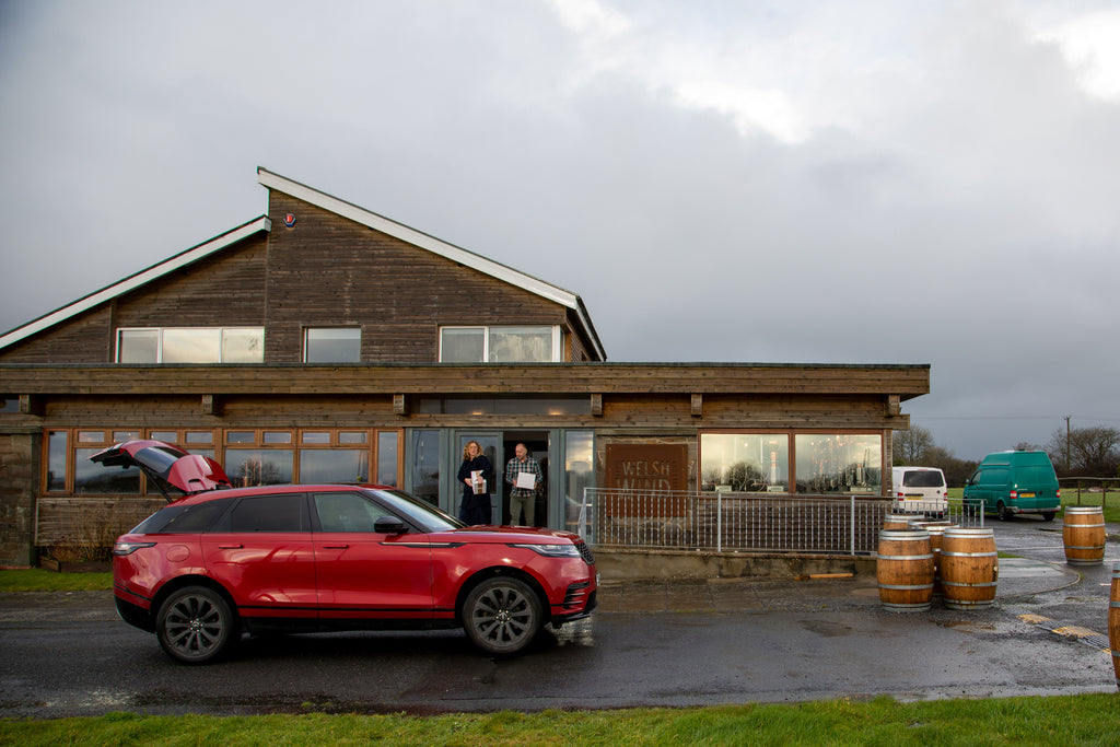 Range Rover Velar at In The Welsh Win distillery, Cardigan