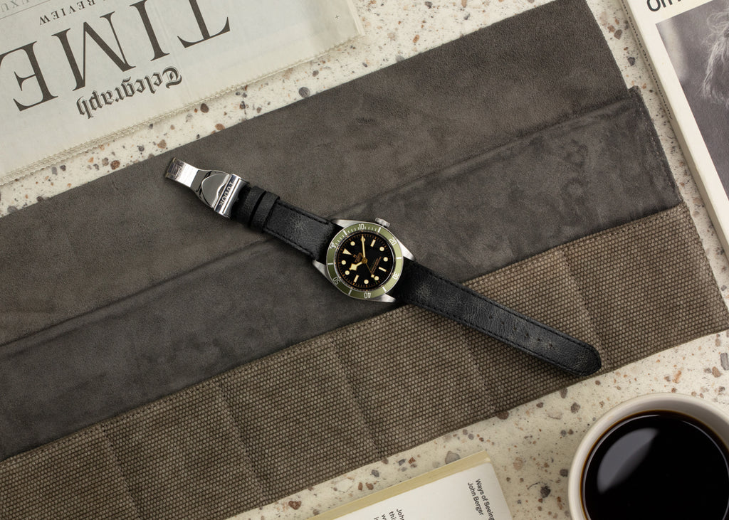 Canvas watch roll by JPM with Tudor Black Bay