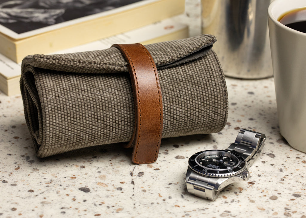 JPM Canvas Watch Roll and Rolex Submariner