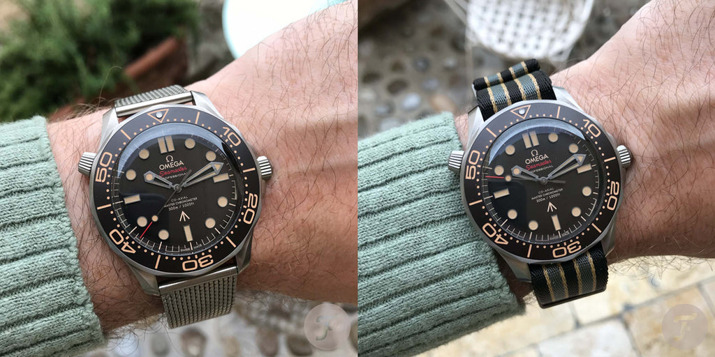 Both versions of the new Omega Seamaster Bond watch