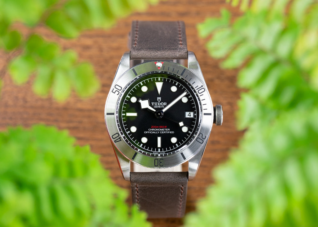 Tudor Black Bay Steel with Pebro Rustic Strap