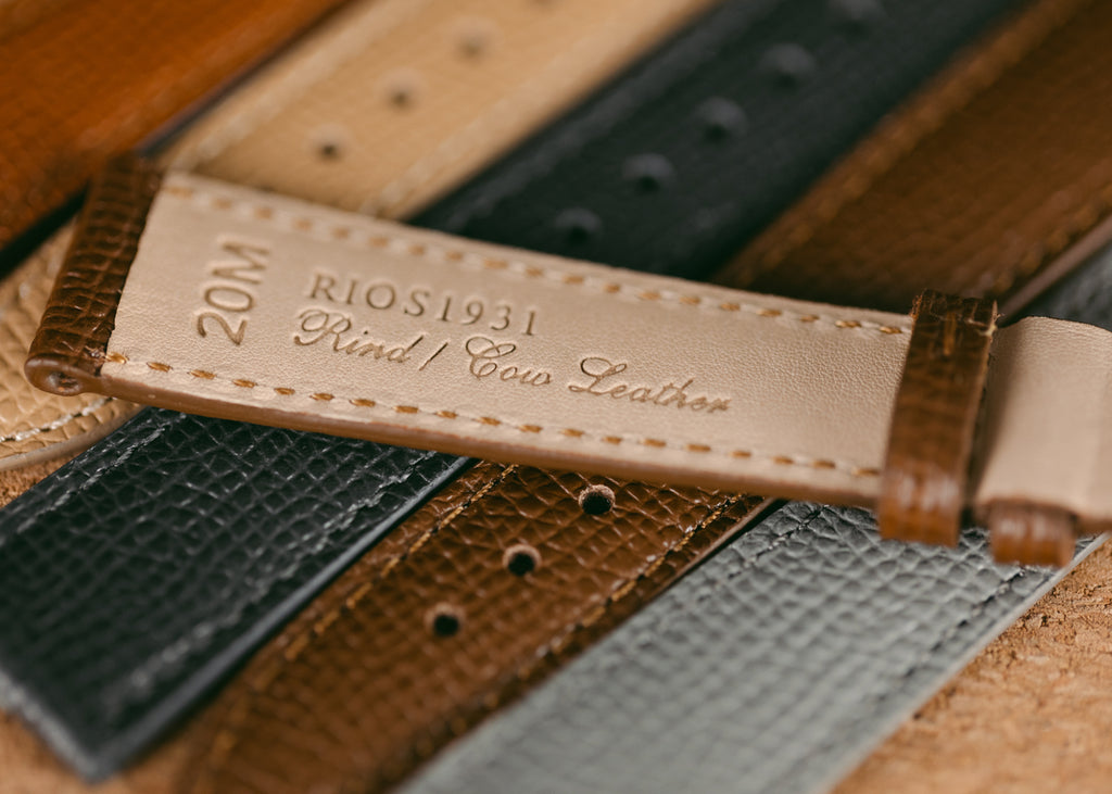 Rios1931 French Grained Leather Watch Strap