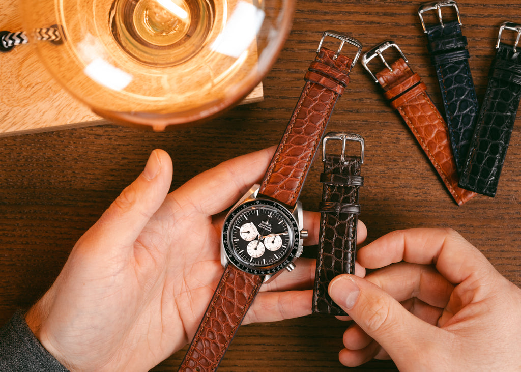 Small scale alligator watch straps by Rios1931