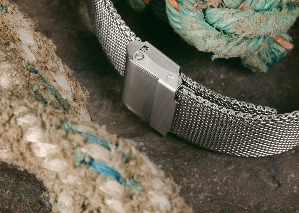 Staib SOC mesh bracelet in polished