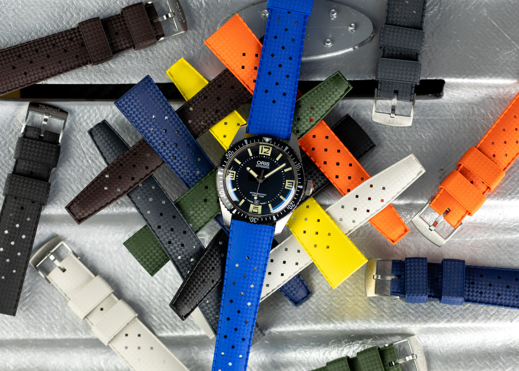 TROPIC Dive Watch Strap fitted to Oris 65 Diver