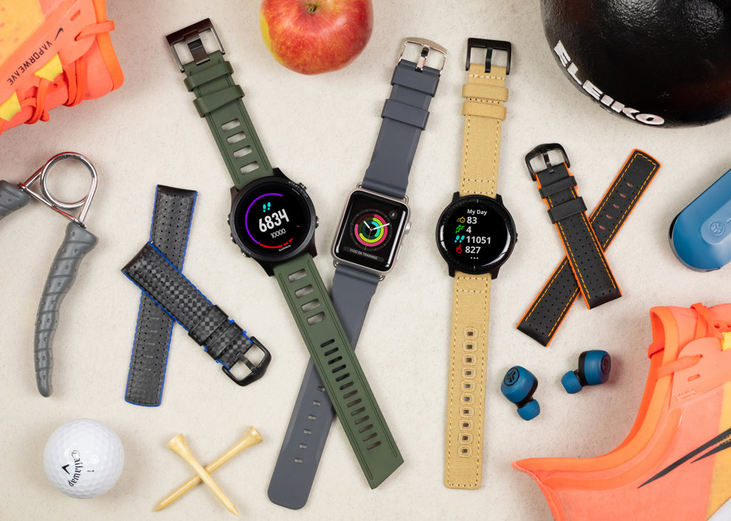 Performance watch straps for activity watches