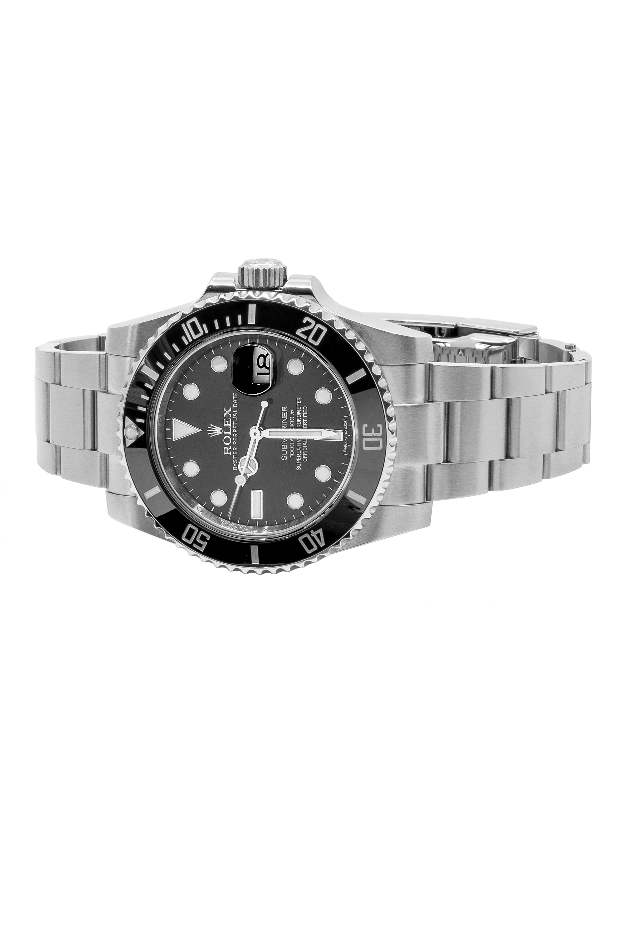 steel submariner pre mens rolex stainless usp watch owned bucherer platinum