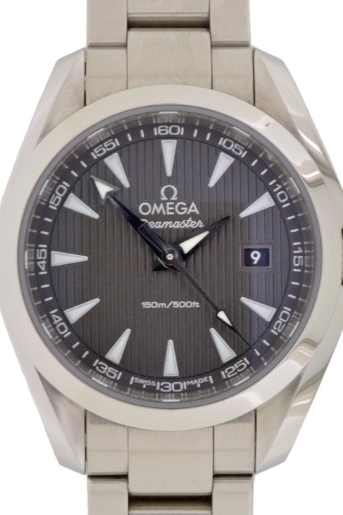 OMEGA Aqua Terra Ladies Quartz Watch Grey Dial