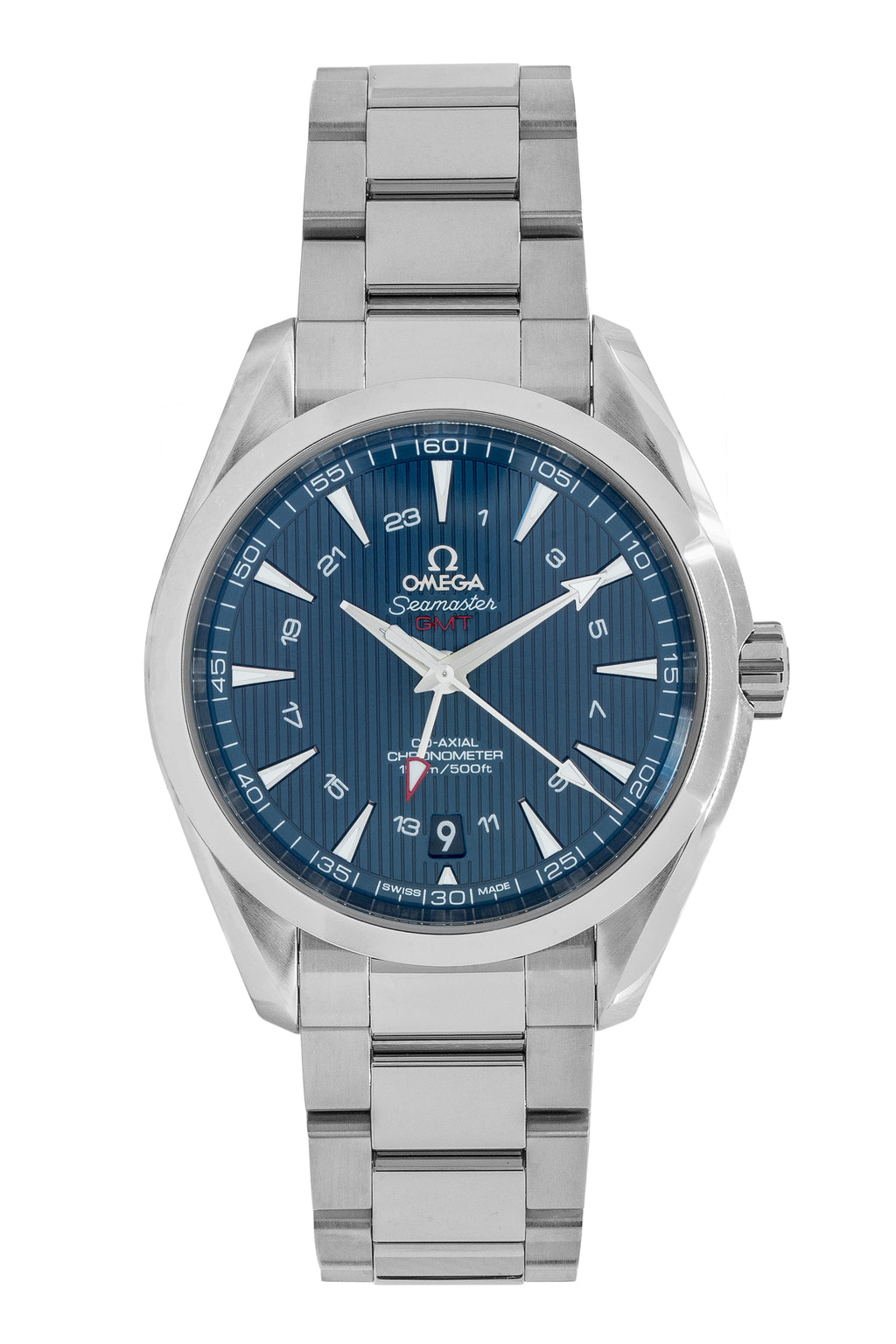 OMEGA Seamaster Aqua Terra 231.10.43.22.03.001 Co-Axial GMT Watch - Blue Dial
