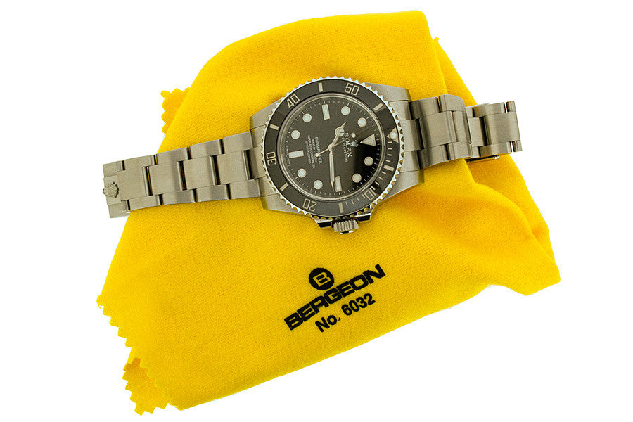 Bergeon Yellow Duster Cloth - 6032 (Watch for illustration only)