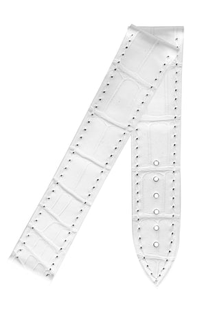 Load image into Gallery viewer, OMEGA 98000112 Genuine Alligator 18mm Short Deployment Watch Strap - WHITE