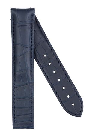 Load image into Gallery viewer, OMEGA 98000467 Genuine Alligator 20mm Deployment Watch Strap in BLUE