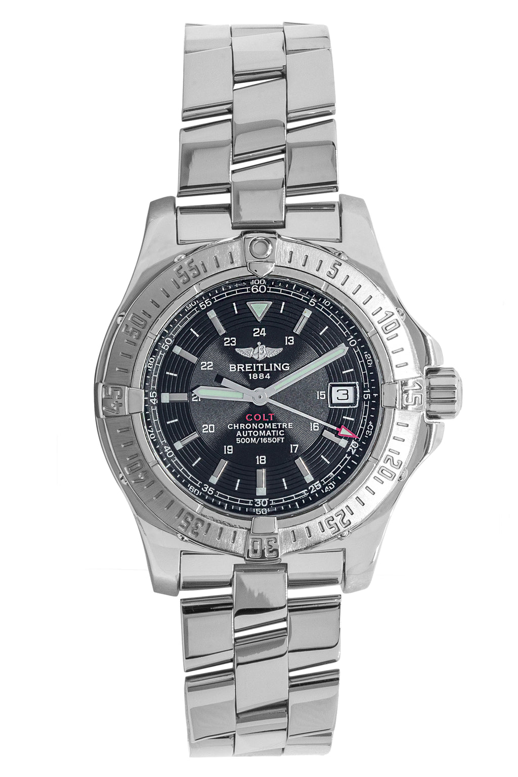 BREITLING Colt Automatic 500m A17380 (2006) 41mm – Black Dial & Stainless Steel
