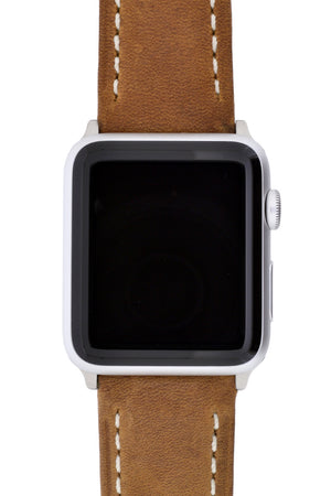 Apple Watch Spring Bar Converter on a Brown Leather Strap