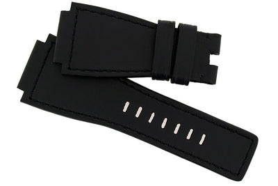 MiG Straps for BELL & ROSS - Calf Leather Watch Strap in BLACK