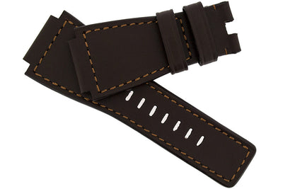 MiG Straps for BELL & ROSS - Calf Leather Watch Strap in BROWN