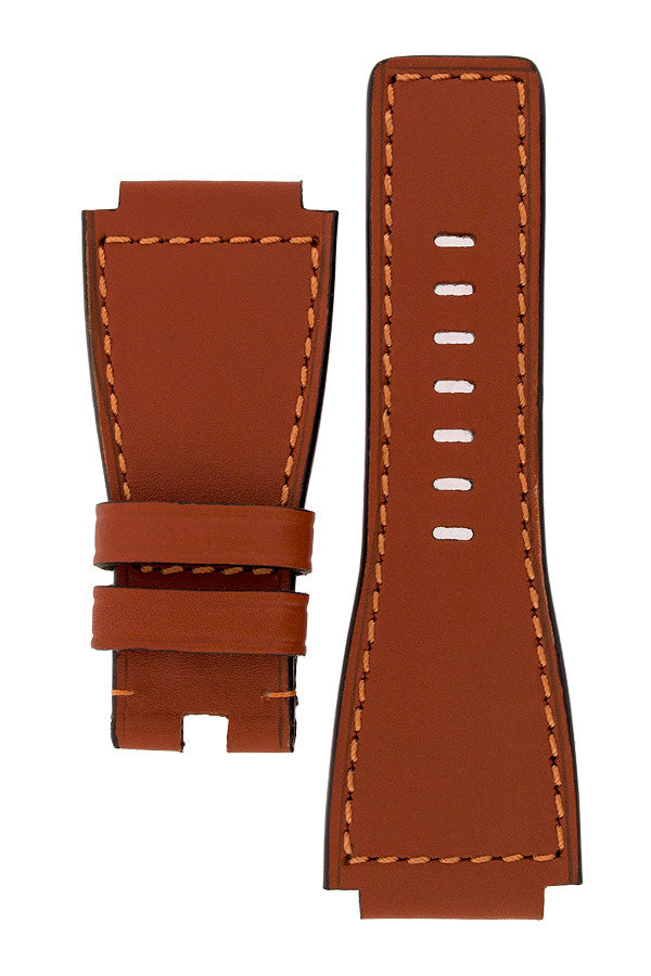 MiG Straps for BELL & ROSS - Calf Leather Watch Strap in GOLD BROWN