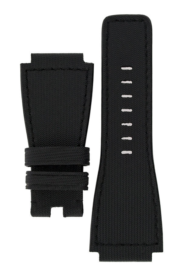 MiG Straps for BELL & ROSS - Nytech Woven Leather Watch Strap in BLACK