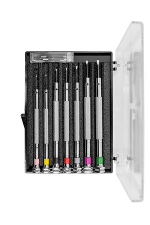 Load image into Gallery viewer, Beco Technic 7-Piece Precision Screwdriver Box Set (Open Case)