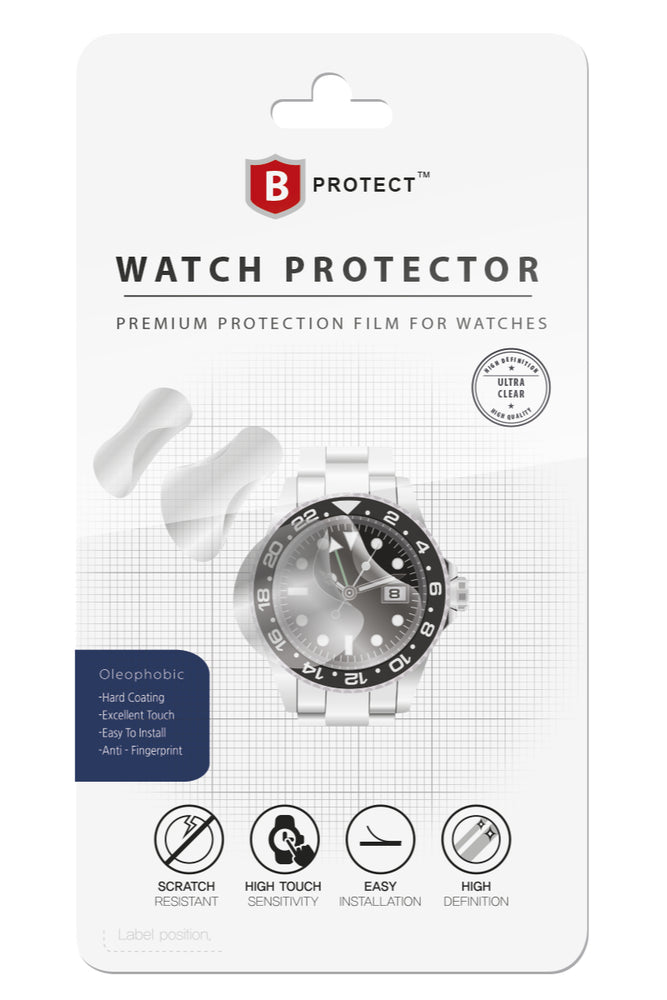 B PROTECT Premium Watch Glass Protection Film for FLAT Watch Glass