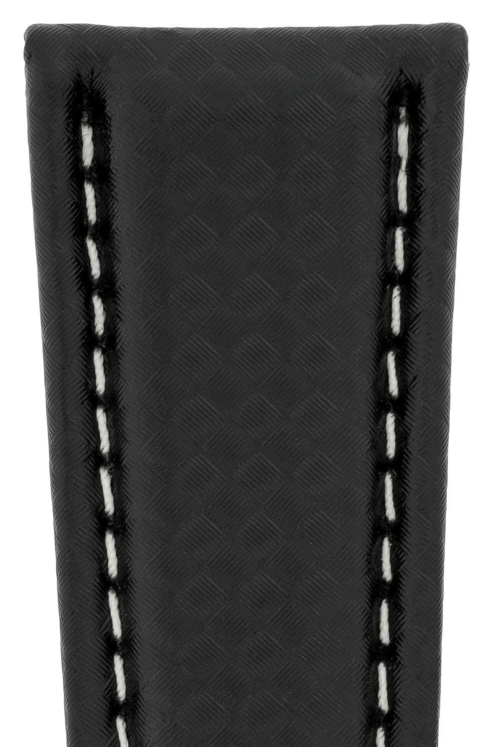 Breitling Style Carbon Deployment Watch Strap in BLACK