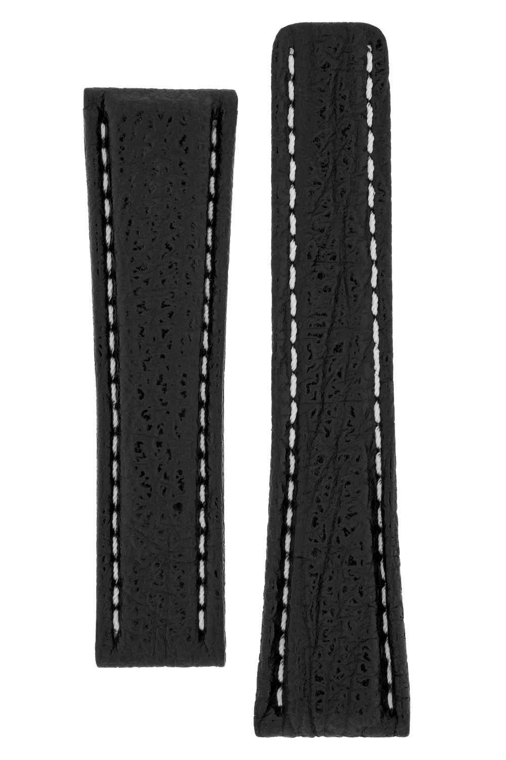 Breitling-Style Shark Deployment Watch Strap in BLACK