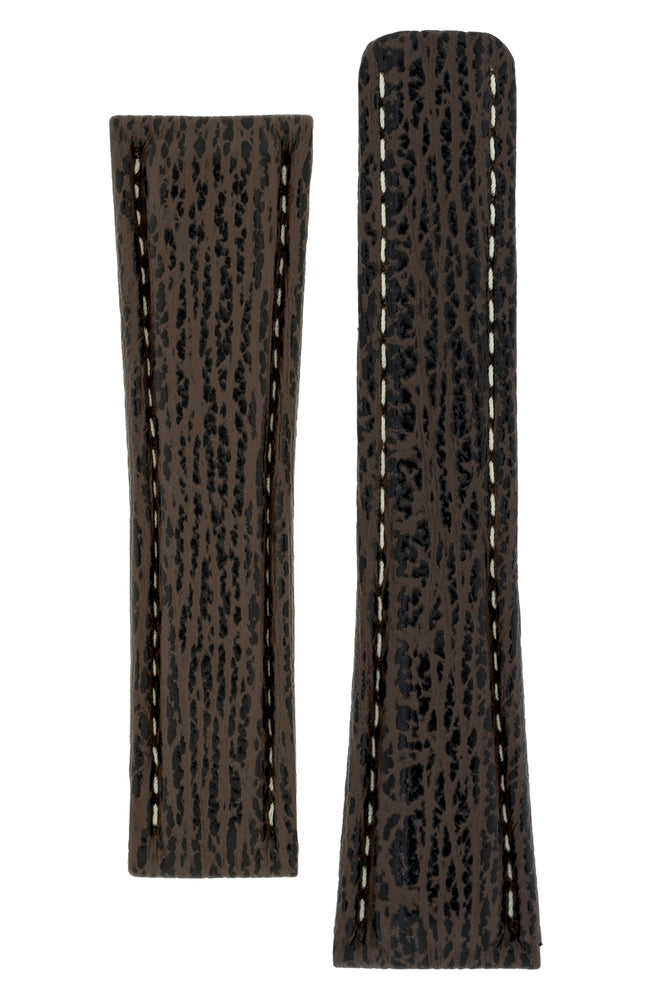 Breitling-Style Shark Deployment Watch Strap in BROWN