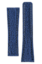 Breitling-Style Shark Deployment Watch Strap in NIGHT BLUE