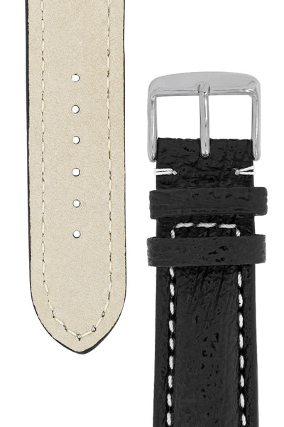 Breitling-Style Shark Watch Strap and Buckle in BLACK