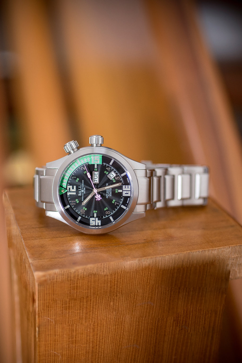 BALL DM1020A Engineer Master II Diver Watch 42mm – Black & Green Dial