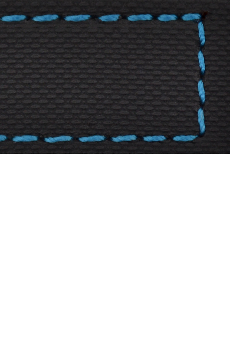 WatchObsession BALLISTIC PU Sport Watch Strap in BLACK / BLUE