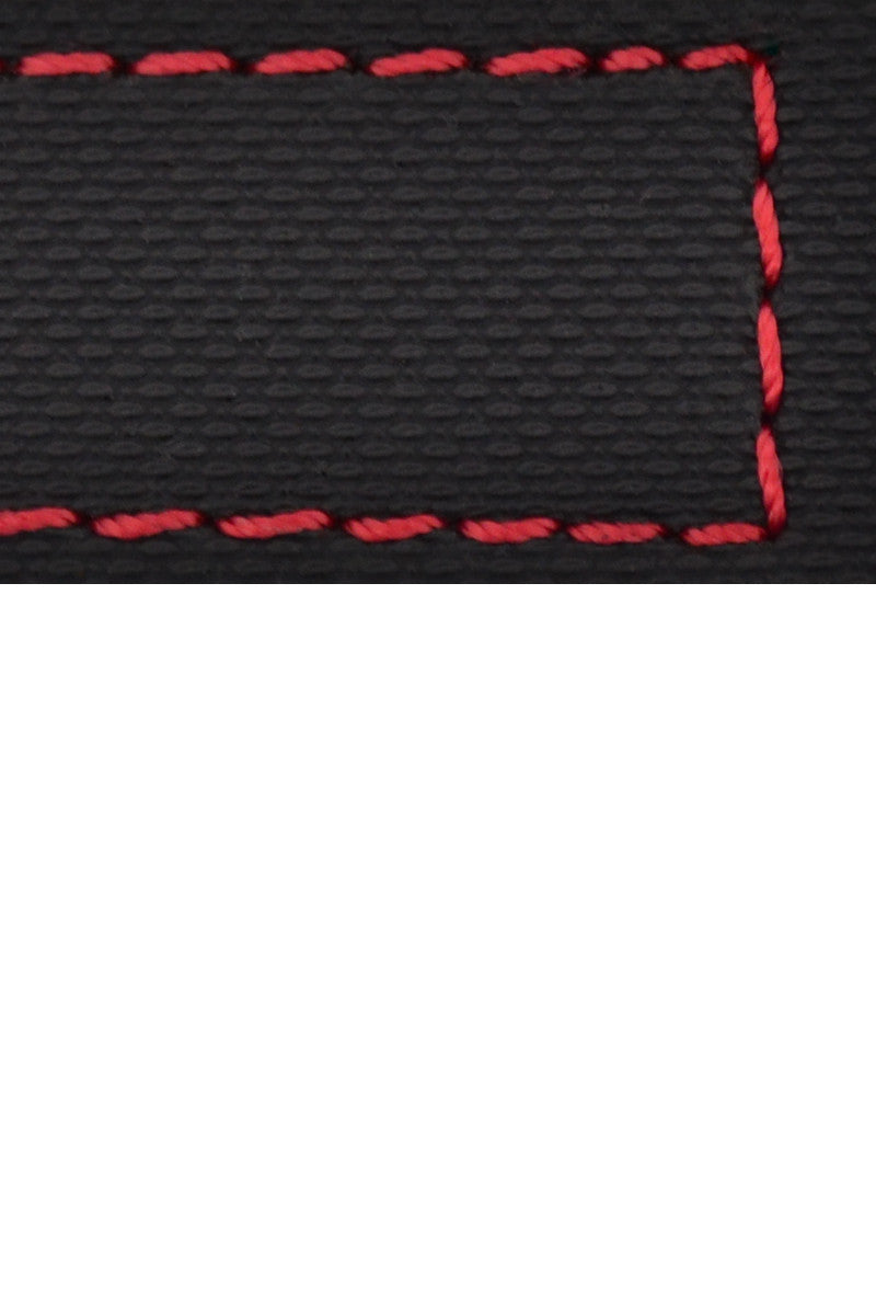 WatchObsession BALLISTIC PU Sport Watch Strap in BLACK / RED