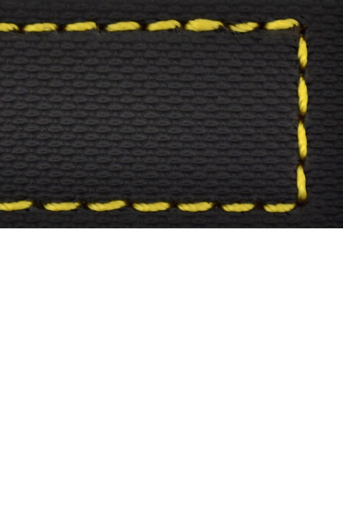 WatchObsession BALLISTIC PU Sport Watch Strap in BLACK / YELLOW