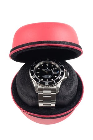 Beco Technic BOXY Round Leatherette Single Watch Case - RED
