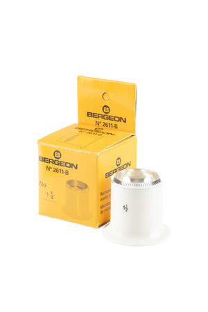 BERGEON 6.7x Magnifying Loupe with Screw Ring in WHITE - 2611-1.5