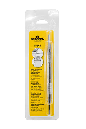 Bergeon Metal Spring Bar Removal Tool - 6767-S (Packaging)