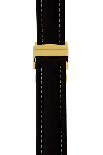 BREITLING-STYLE Polished Gold Metal Deployment Clasp (On Strap)