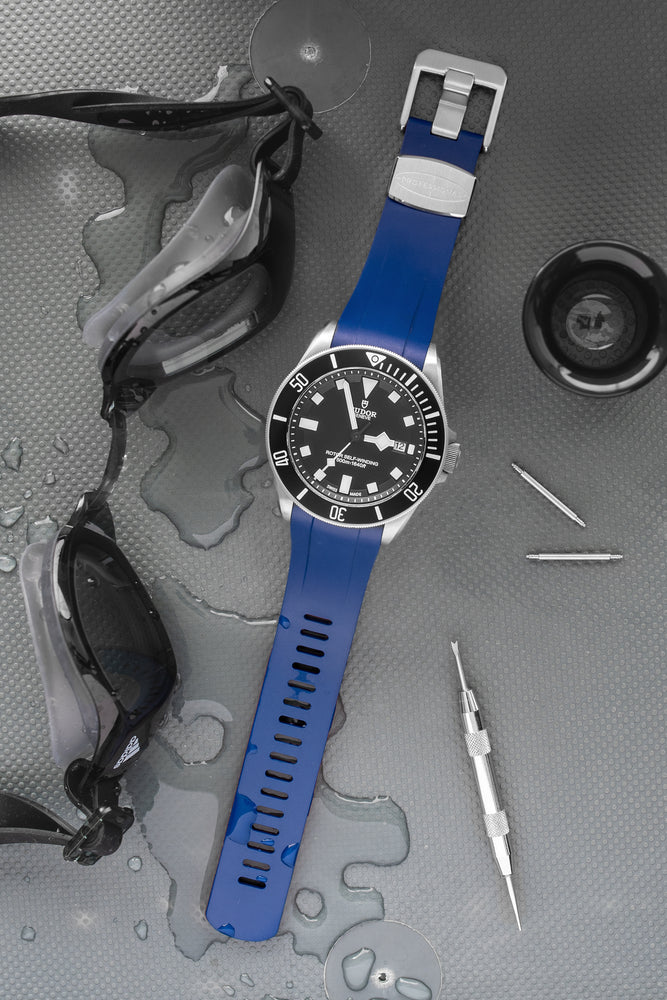 Crafter Blue Rubber Watch Strap for Tudor Pelagos Series in Blue (Promo Photo)